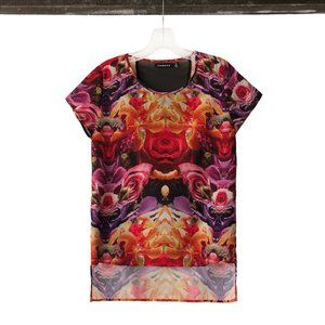 Trouve mirrored floral print top